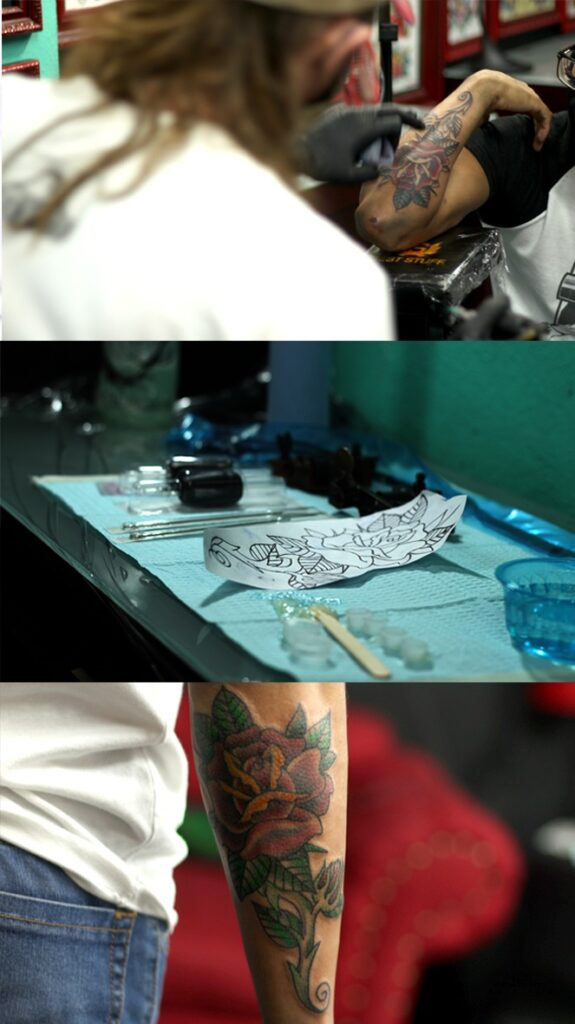 The process of getting a tattoo